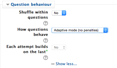 Moodle - Activity - Quiz - Creating an Adaptive Quiz Allowing